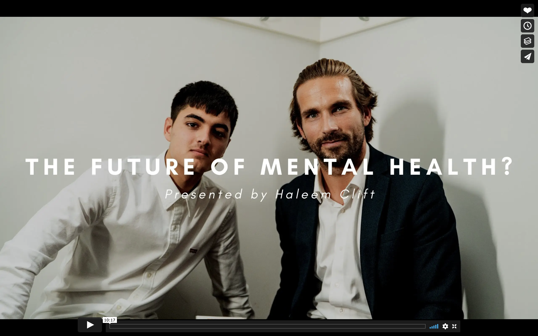 The Future of Mental Health? | Haleem Clift